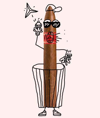 Zigarre:  ‹I'm the man!›